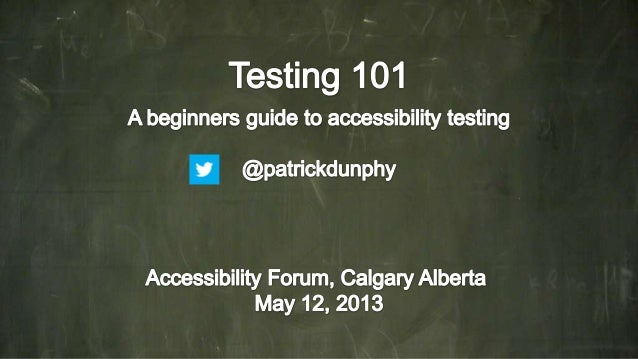 Accessibility Testing 101