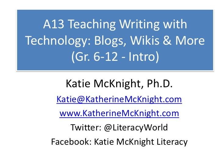 A13 teach writing with tech