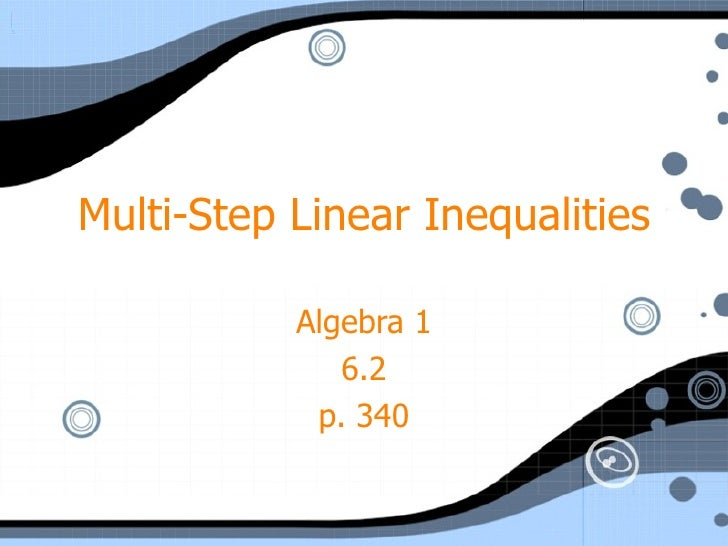 A16 2 multistep iniqualities
