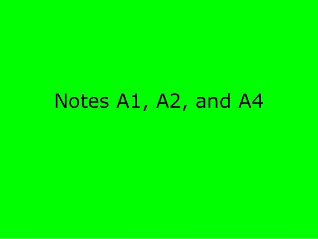Notes A1, A2, and A4