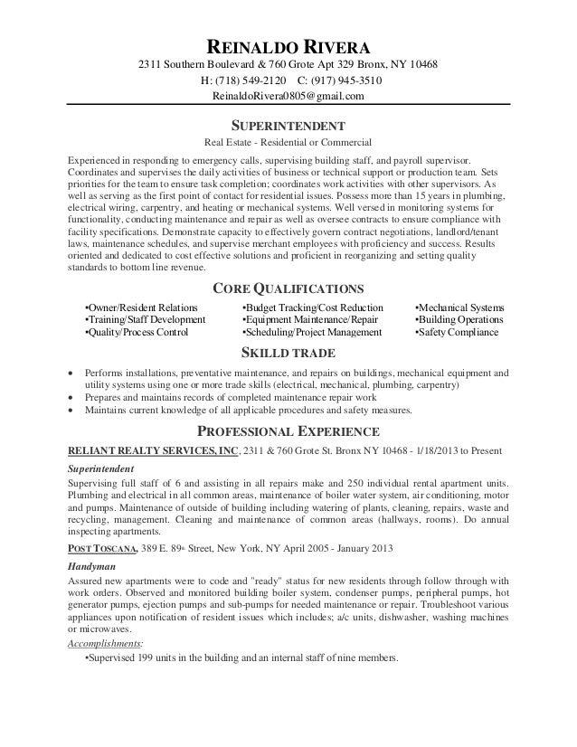 Handyman Caretaker Sample Resume Sample Resume For Handyman