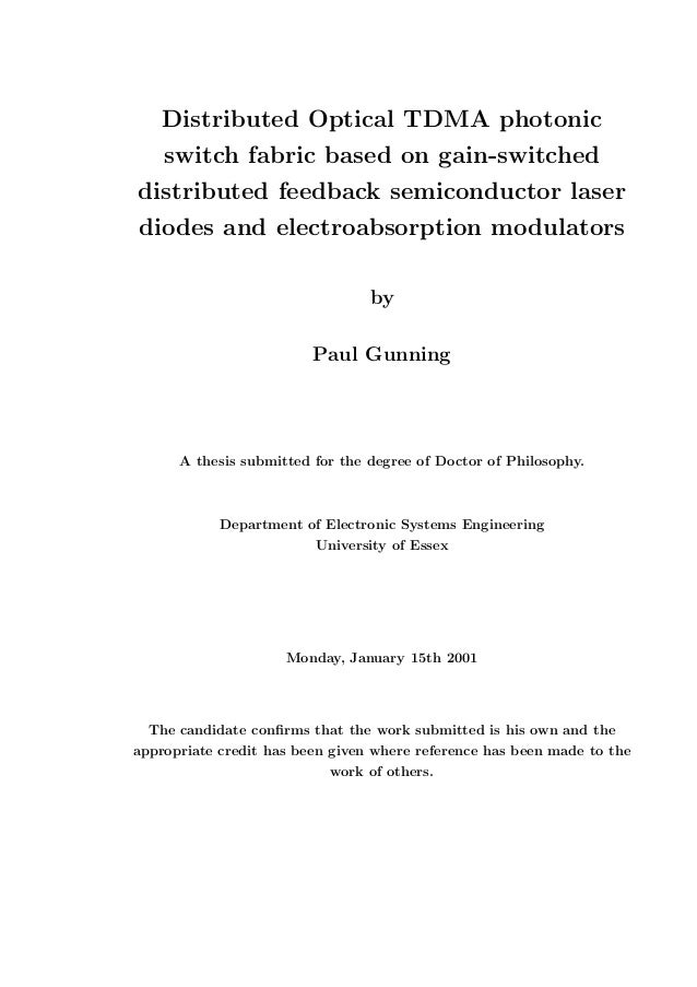 Distributed feedback laser thesis