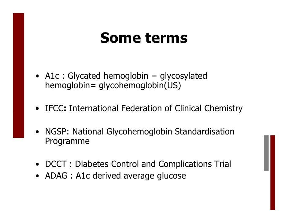 hba1c   glycosylated hemoglobin