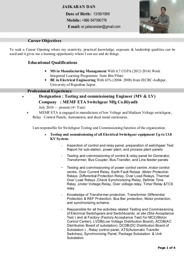Electrical Engineer Resume Sample Resume Best Free