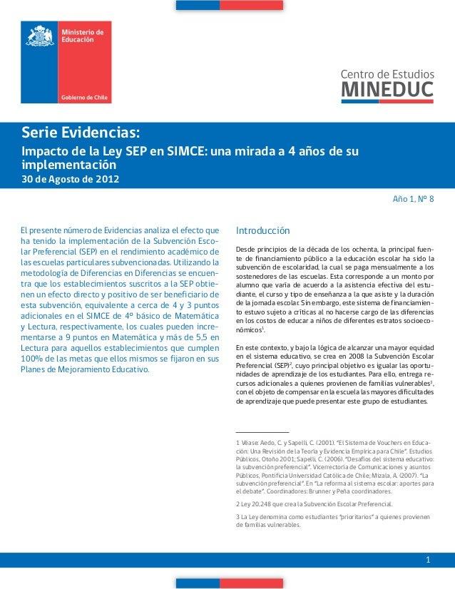 El impacto de la ley SEP en el Simce