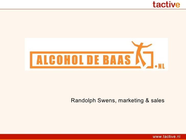 Randolph Swens, marketing & sales