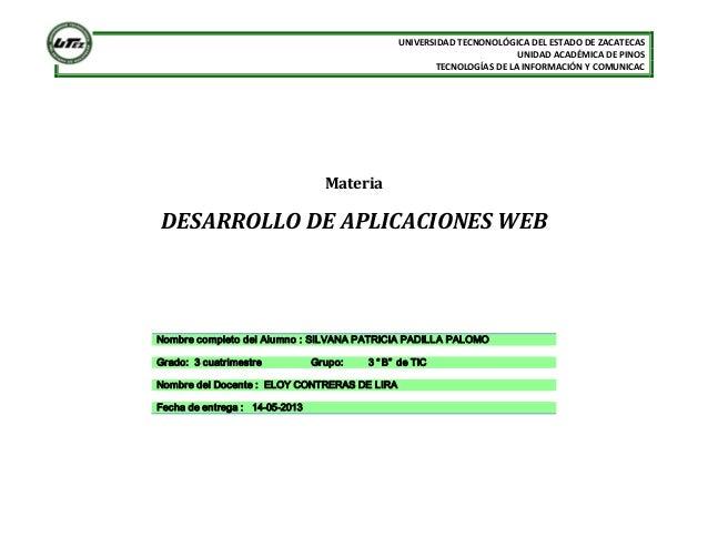 UNIVERSIDADTECNONOLÓGICADELESTADODEZACATECASUNIDADACADÉMICADEPINOSTECNOLOGÍAS DELAINFORMACIÓNYCOMUNICACMate...
