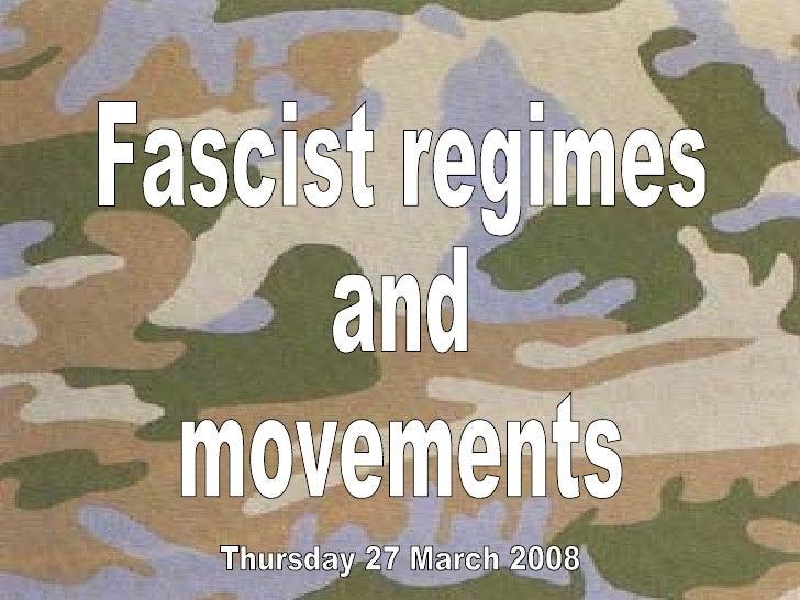 a2 govt. and politics fascism movements