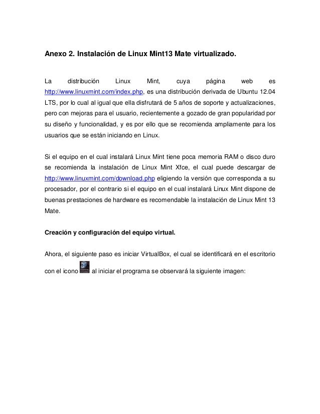 A2   instalación de linux mint 13 mate