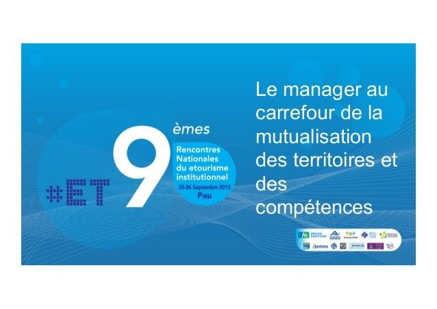 A2 le manager au carrefour des territoires de la mutualisation des compétences
