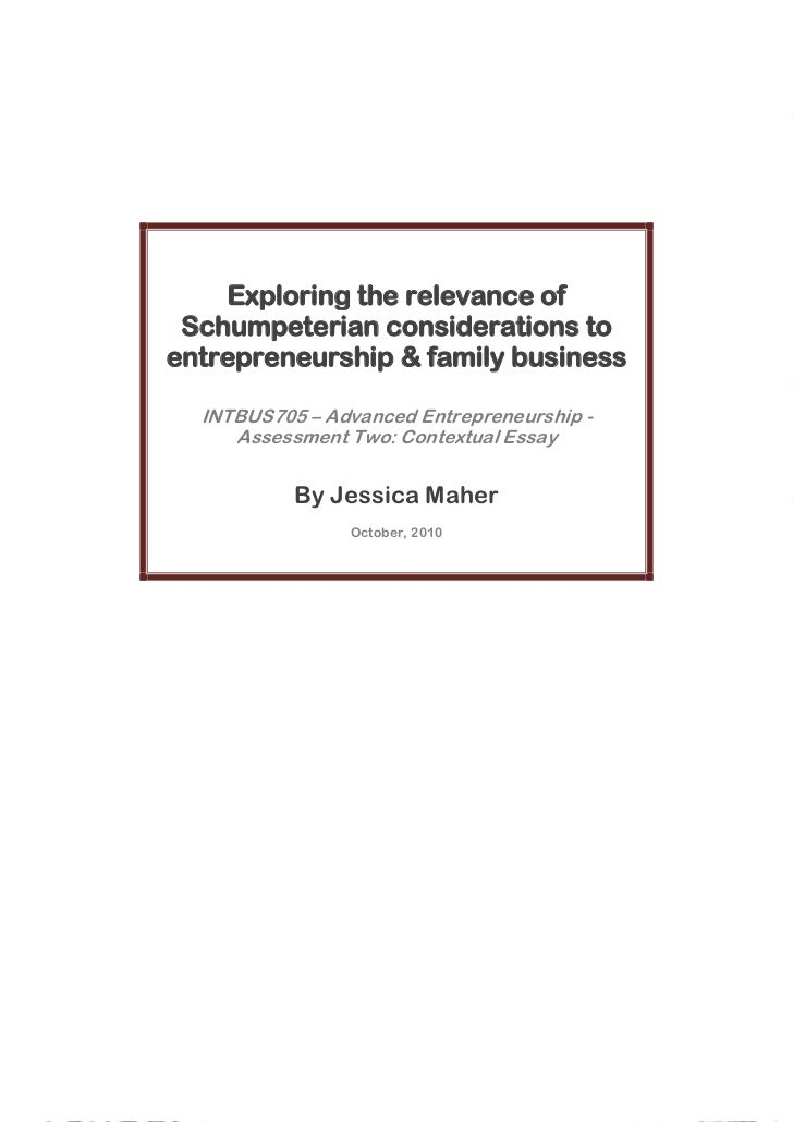INTBUS705 - Schumpeter on Family Business & Entrepreneurship