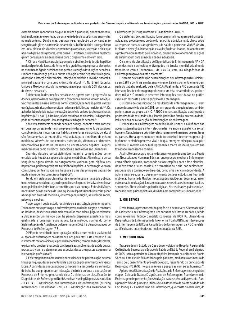 Processo de Enfermagem Nanda Processo de Enfermagem