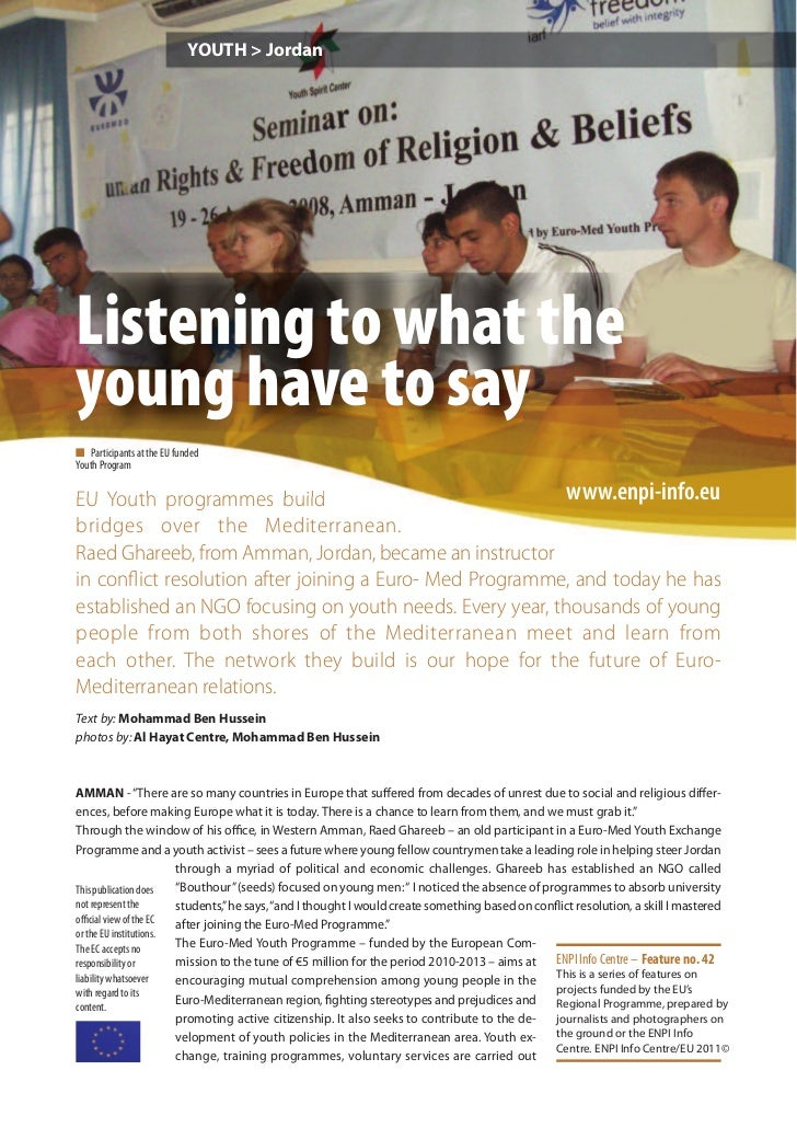 Listening to what the young have to say
