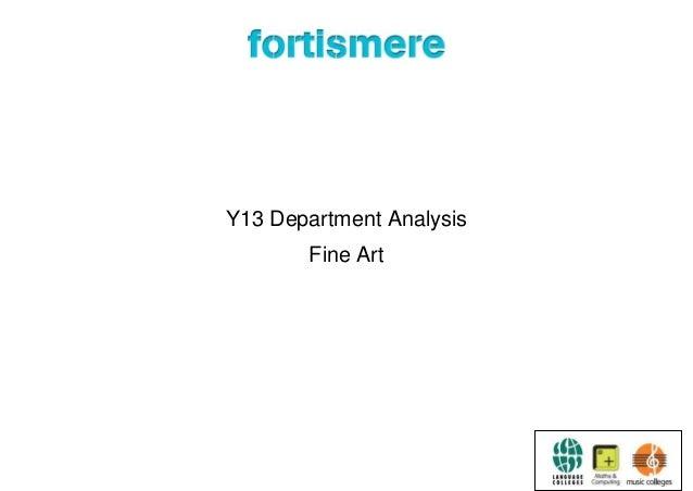 Y13 Department Analysis Fine Art