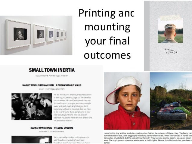 A2 Photography ART3 printing and presentation ideas