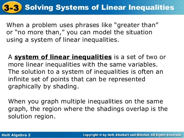 Solving systems of inequalities by graphing worksheet algebra 2