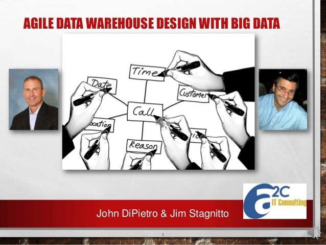 AGILE DATA WAREHOUSE DESIGN WITH BIG DATA  John DiPietro & Jim Stagnitto 1