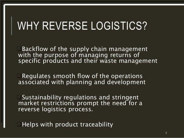 Reverse Logistics Products Why Reverse Logistics