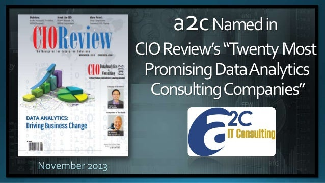 a2c named in Top 20 Most Promising Data Analytics Consulting Companies by CIO Review