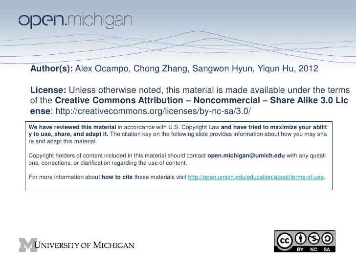 Author(s): Alex Ocampo, Chong Zhang, Sangwon Hyun, Yiqun Hu, 2012License: Unless otherwise noted, this material is made av...