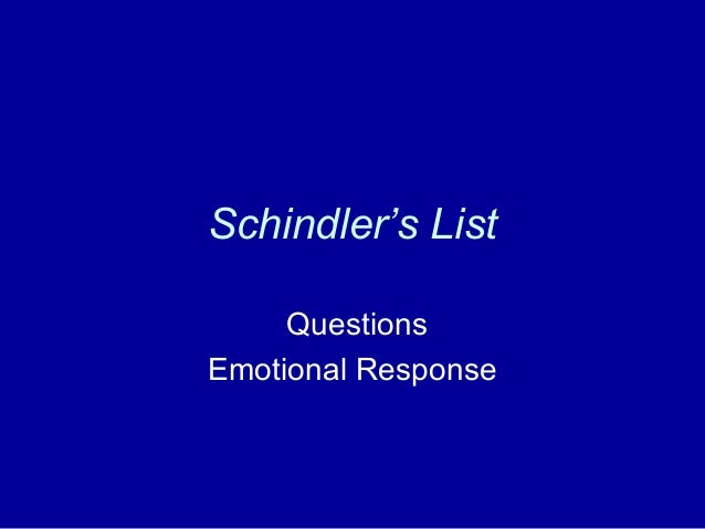 Schindler's List Summary & Study Guide - BookRags.com