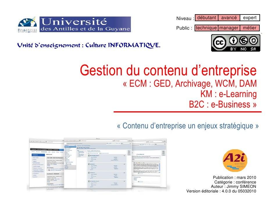 Gestion du contenu de l'entreprise (ECM, LSM, Shop).