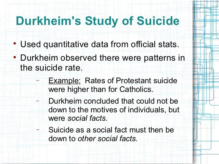 an overview of the study of suicide in the book suicide a study in sociology by durkheim Far-sighted and trail-blazing in its conclusions, suicide makes an immense  contribution to our understanding  a brilliant study, it is regarded as one of the  most important books durkheim ever wrote  what people are saying - write a  review.