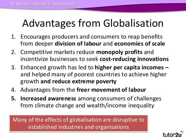 advantages of globalization essays The debate on whether globalization is good or bad for any particular community has been going on since ages and while some people stress on the benefits of globalization others pay more attention towards the compromises and risks of achieving globalization.