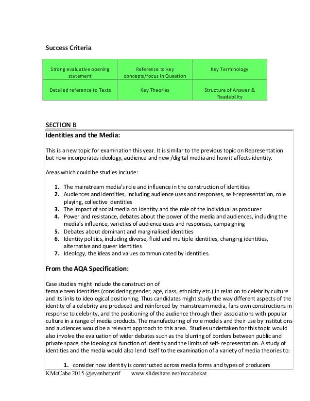 aqa media studies a level coursework Coursework information mest 2 use this link to see example section a questions and answers from as media studies by routledge aqa as & a2 level media aqa.