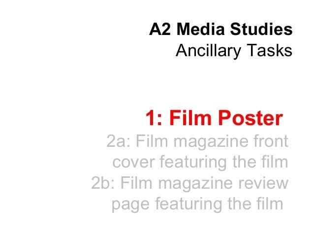 A2 media   film poster analysis
