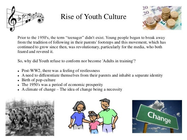 contemporary youth culture essay Abstract for a number of years, theorists have suggested that the term 'youth culture' corresponds with particularized forms of youth cultural practice clustered around the more spectacular manifestation of the consumption of music, style, and associated objects, images, and texts.