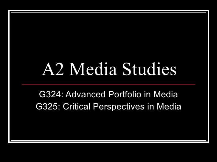 A2 media studies introduction