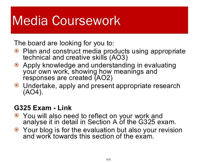 media as coursework research