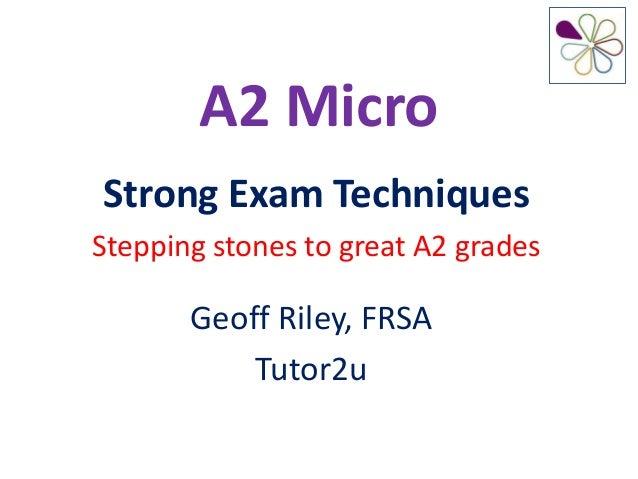 A2 Micro Unit 3 Revision Advice