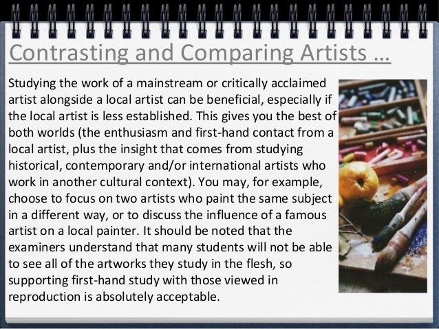 comparison of two paintings essay Contrast and comparison of three famous paintings - essay example the essay contrast and comparison of three famous paintings many features of the two.