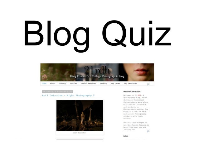 A2 photography quiz