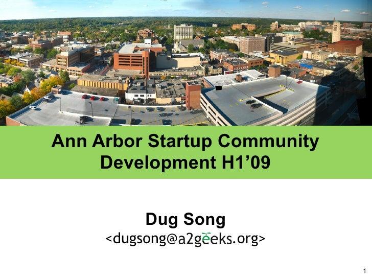Ann Arbor Startup Community Development H1'09