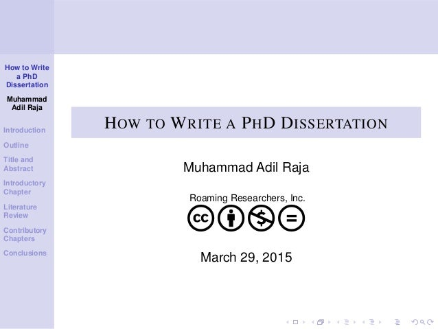 Writing phd dissertation outline