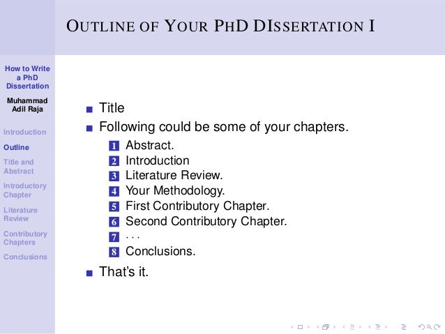 phd dissertation parts The term graduate thesis is sometimes used to refer to both master's theses and doctoral dissertations after completing this part of the phd.