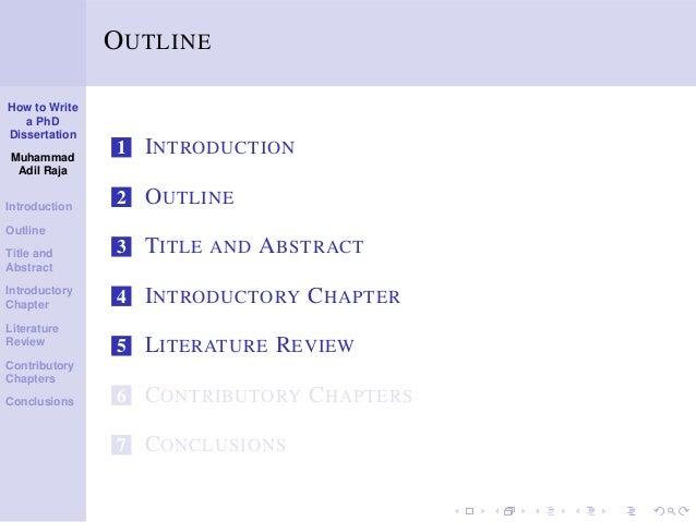 Phd Dissertation Abstract