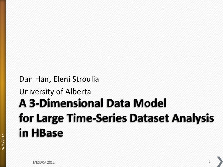 A 3 dimensional data model in hbase for large time-series dataset-20120915