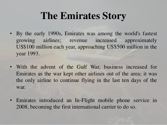 marketing environment of emirates airlines Airlines its main activity is the provision of commercial air transportation services  operations less impactful on the environment at emirates group,.