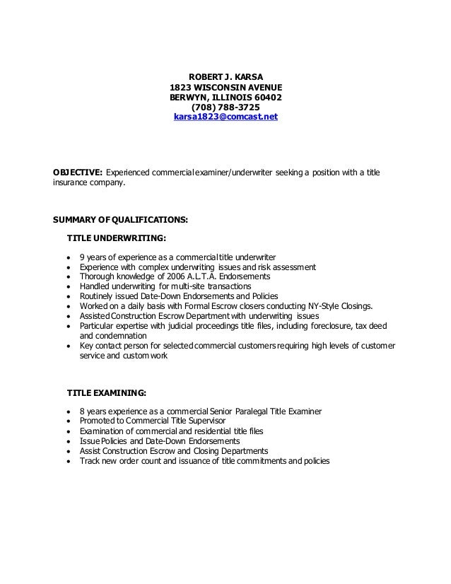 Examples Of Resume Title