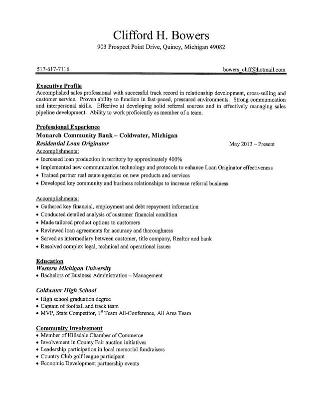 RESUME AND LETTERS OF REC.