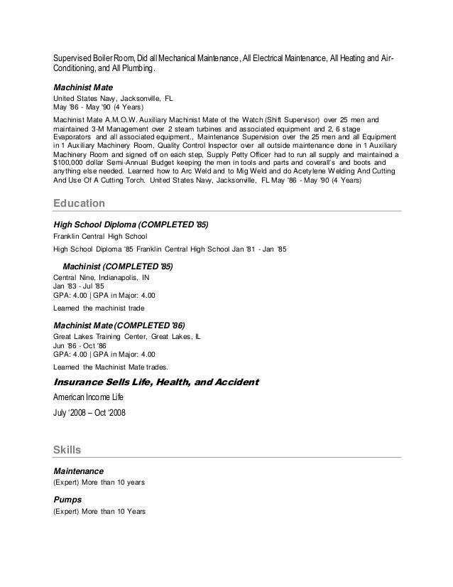 vince farmer resume 2 638 machinist mate resume resimplifyco vince farmer resume manual machinist resume