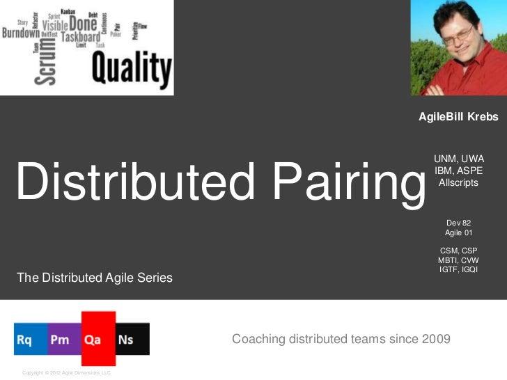Distributed Pair Programming