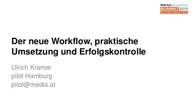 Der neue Workflow, praktische Umsetzung und Erfolgskontrolle Ulrich Kramer pilot Hamburg pilot@media.at