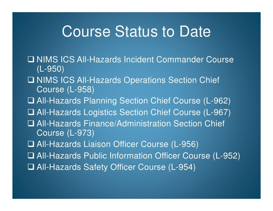 "national incident management system Oregon office of emergency management national incident management system (nims) frequently asked questions (faq) training q: who makes the decision on ""who takes what"" regarding nims training."