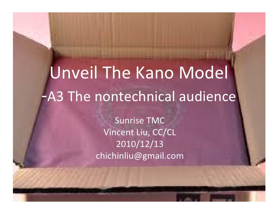 Unveil The Kano Model