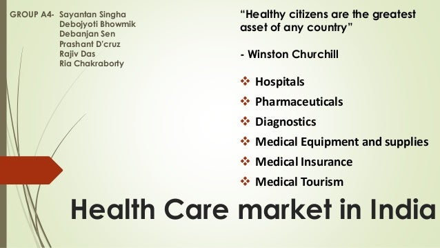 Health Care market in India  Hospitals  Pharmaceuticals  Diagnostics  Medical Equipment and supplies  Medical Insuran...